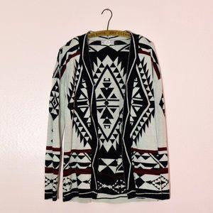Tribal Black and Cream Cardigan